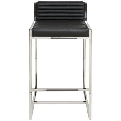 Zola 29.5 Bar Stool Upholstery: Black