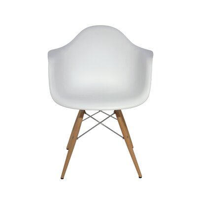 Earnest Arm Chair Upholstery: White