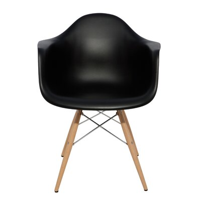 Earnest Arm Chair Upholstery: Black