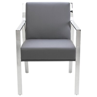 Valentine Arm Chair Upholstery: Grey