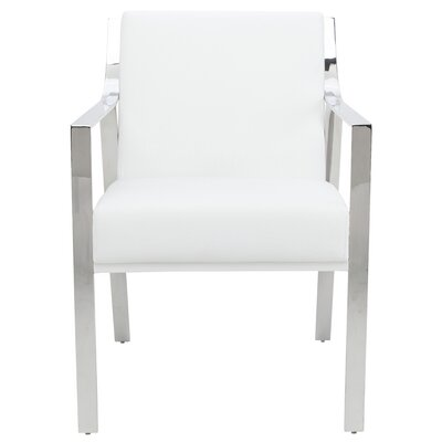 Valentine Arm Chair Upholstery: White