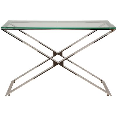 Kali Console Table Finish: Clear Glass