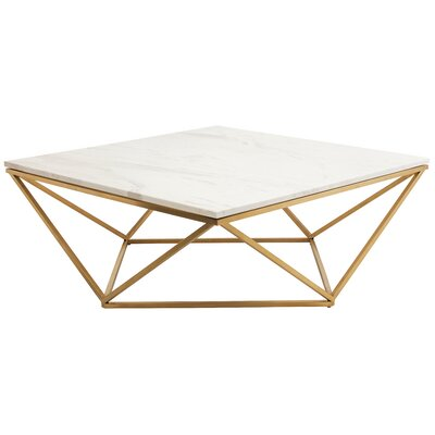 Jasmine Coffee Table Base Finish: Gold