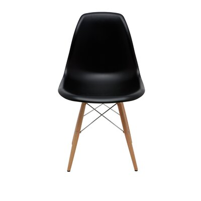 Charlie Side Chair Upholstery: Black