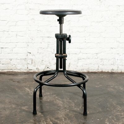 Adjustable Height Bar Stool Upholstery: Sepele Hardwood
