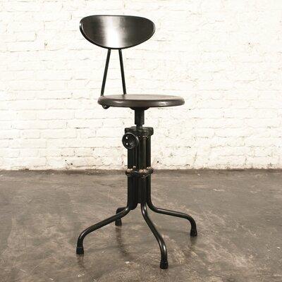 Adjustable Height Bar Stool Upholstery: Sepele Hardwood