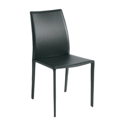 Sienna Parsons Chair Upholstery: Black