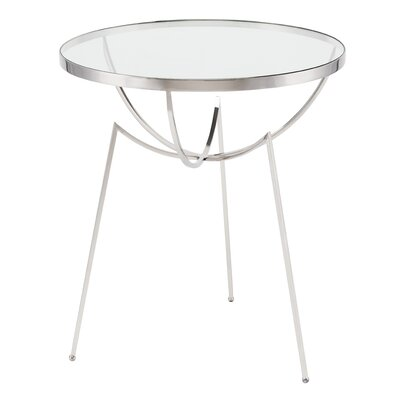 Areille End Table Finish: Polished Stainless Steel