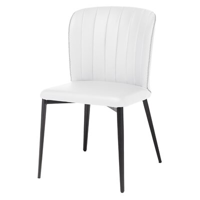 Carmella Side Chair Upholstery: White