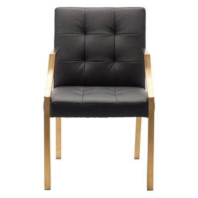 Paris Arm Chair Upholstery: Black