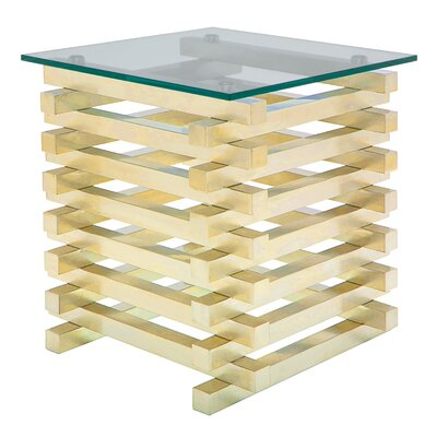 Stacked End Table Finish: Gold