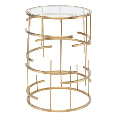 Tiffany End Table Color: Gold
