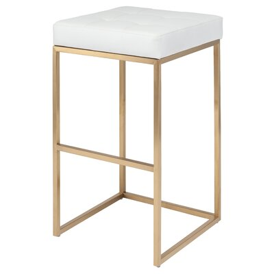 Chi 29.75 Bar Stool Upholstery: White