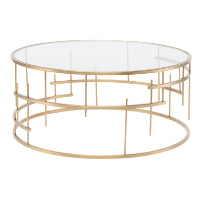 Tiffany Coffee Table Finish: Gold