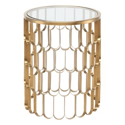 Jewel End Table Finish: Gold
