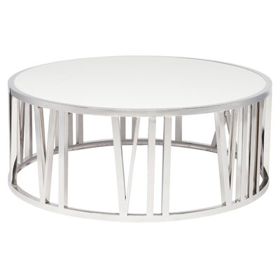 Roman Coffee Table Finish: White / Polished�Stainless Steel