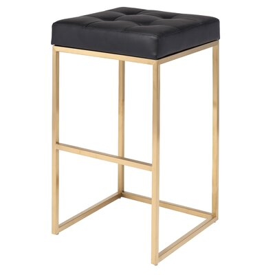 Chi 29.75 Bar Stool Upholstery: Black