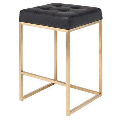 Chi 25.75 Bar Stool Upholstery: Black