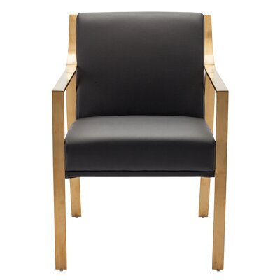 Valentine Dining Arm Chair Upholstery: Black