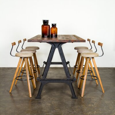 Theo 30.75 Bar Stool Upholstery: Brown