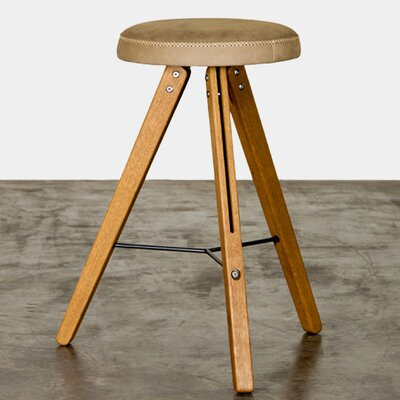 Theo 26.75 Bar Stool Upholstery: Brown