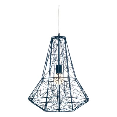 Apollo 1-Light Geometric Pendant Color: Black