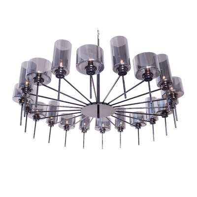 Alexandria 20-Light Pendant Finish: Gray