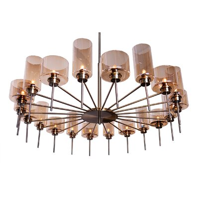 Alexandria 20-Light Pendant Finish: Champagne
