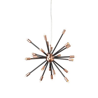 Sergei 24-Light Pendant Finish: Copper/Matte Black