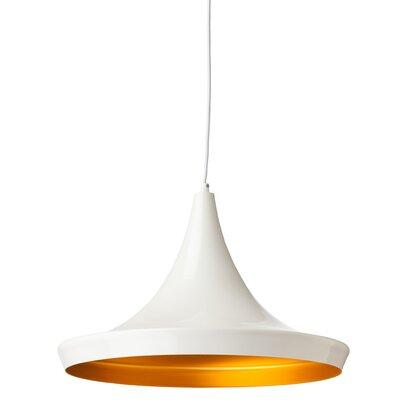 Euclid 1 Light Pendant Finish: Gloss White