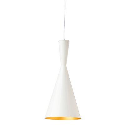 Lue 1 Light Pendant Finish: Gloss White