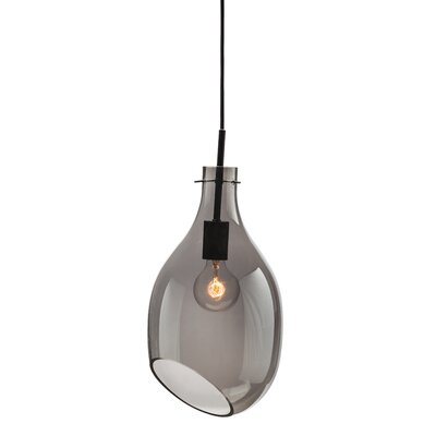 Carling 1 Light Pendant Shade Color: Gray