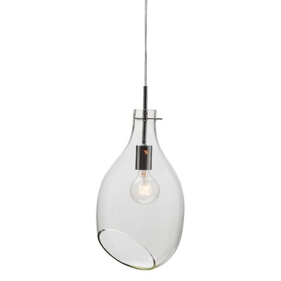Carling 1 Light Pendant Shade Color: Clear