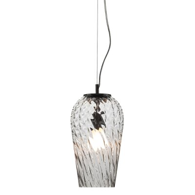 Arden 1 Light Pendant Shade Color: Clear