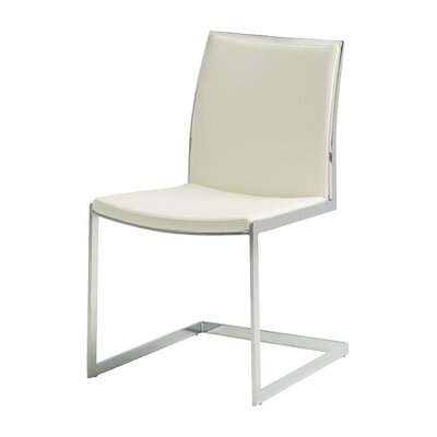 Temple Side Chair Upholstery: White