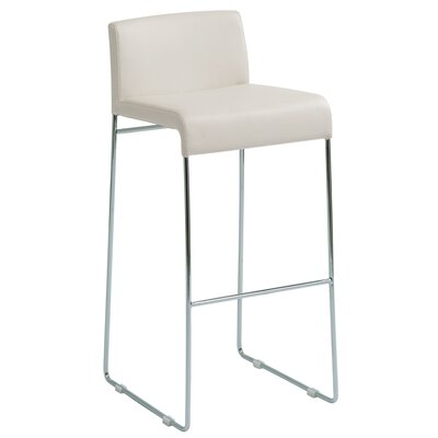 No credit financing Nina Nauga Counter Stool in White...