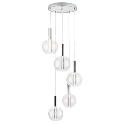 Irene 5-Light Cascade Pendant