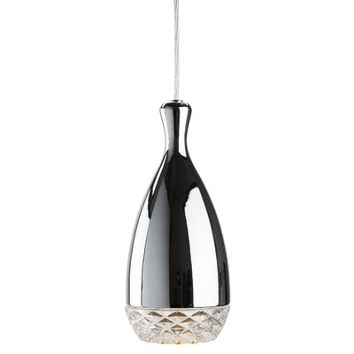 Citrine 1-Light Mini Pendant Finish: Chrome