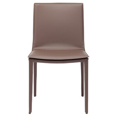 Palma Genuine Leather Upholstered Dining Chair Finish: Mink