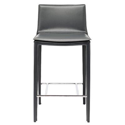 Palma 25.75 Bar Stool Upholstery: Grey