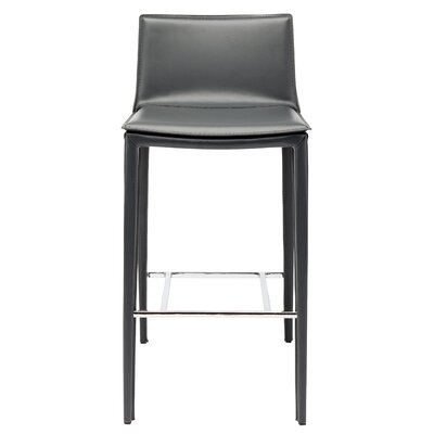 Palma 37.75 Bar Stool Upholstery: Grey