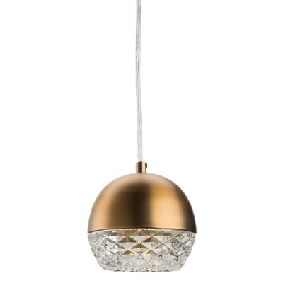 Quartz 1-Light Mini Pendant Finish: Antique