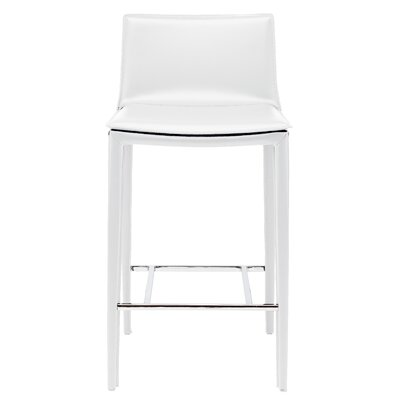 Palma 25.75 Bar Stool Upholstery: White