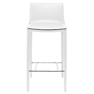 Palma 37.75 Bar Stool Upholstery: White