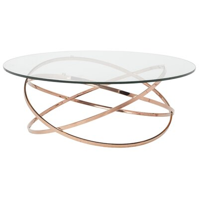 Corel Coffee Table Finish: Rose Gold