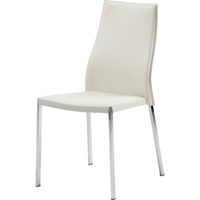 Eric Genuine Leather Upholstered Dining Chair Upholstery: White