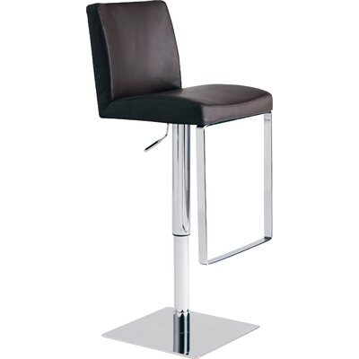 Matteo Adjustable Height Swivel Bar Stool Upholstery: Chocolate