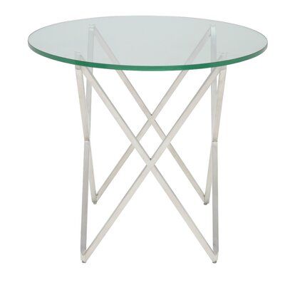 Lattice End Table Finish: Silver