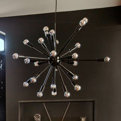 Sergei 24-Light Bowl Pendant Finish: Black