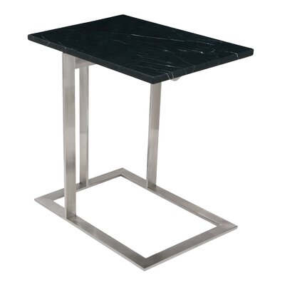 Dell End Table Finish: Black, Base FInish: Silver
